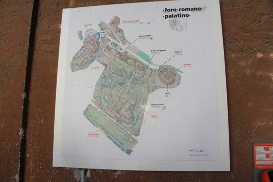 Map of Monte Palatino