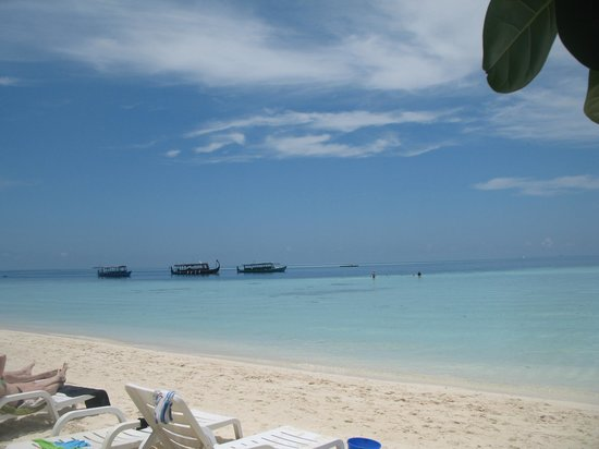 Biyadhoo Island Resort : Panorama dalla spiaggia