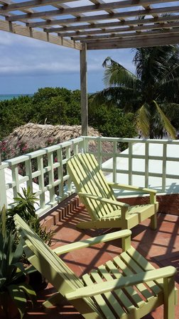 Caye Casa: our private balcony
