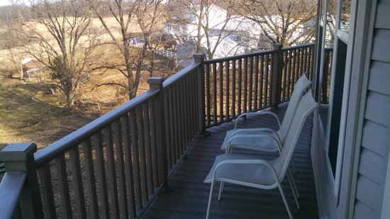 Holmes with a View: Chairs on the deck