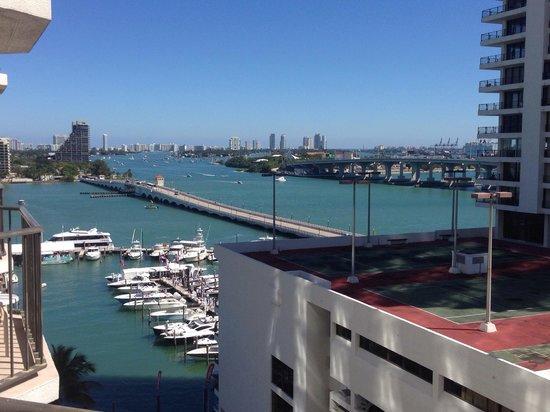 Miami Marriott Biscayne Bay: Etwas Wasser u etwas verbaut leider