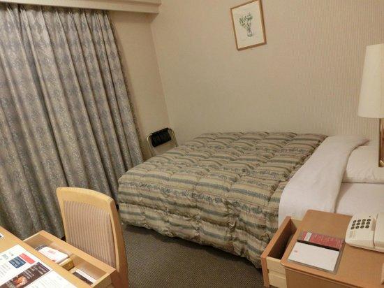 Hotel Grand Terrace Obihiro : シングルルーム。ベッドは広め。