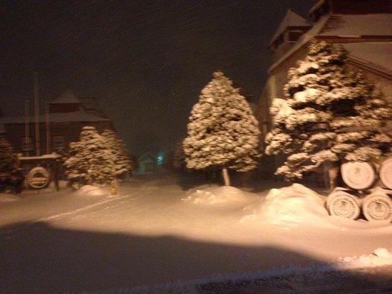 Nikka Whisky Yoichi Distillery: 雪の施設内は幻想的!