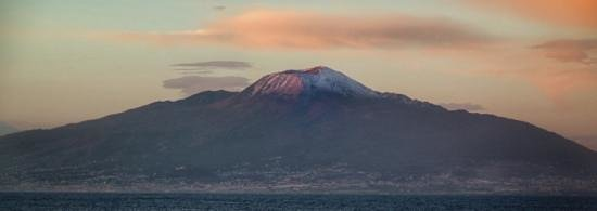 Marina Piccola 73: room with a view, snow capped Vesuvius across the bay