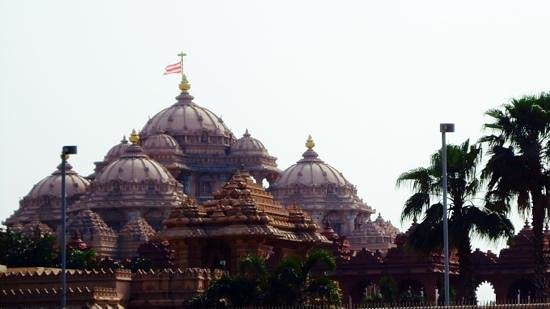Akshardham Temple: taken from outside. no cameras inside