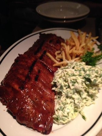 Houston's: the rack of ribs was also great! awesome cole slaw too