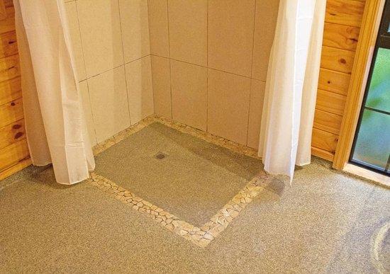 Beach Hideaway: Floor of shower
