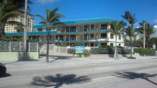 The Merriweather Resort: view of resort from the beach