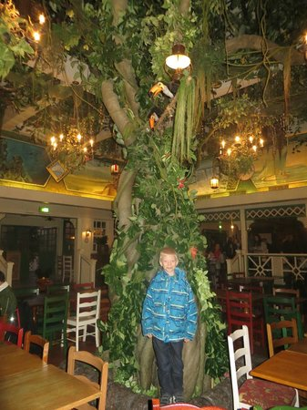 Colonel Hathi's Pizza Outpost: The tree in the middle of the diningroom