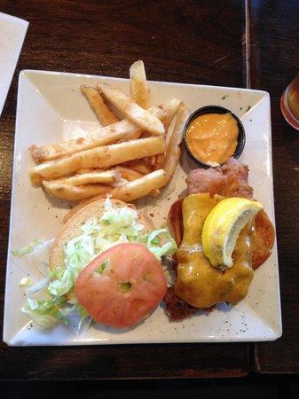 Liberty Brewery & Grill : Fish Sandwich w/fried
