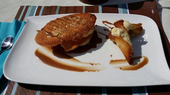 Restaurant Le Trapoun : Mille feuilles poire et crème pâtissière