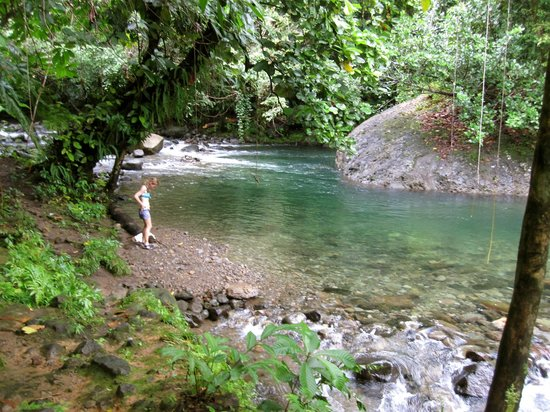 Rosalie, Dominica: At the swimming hole