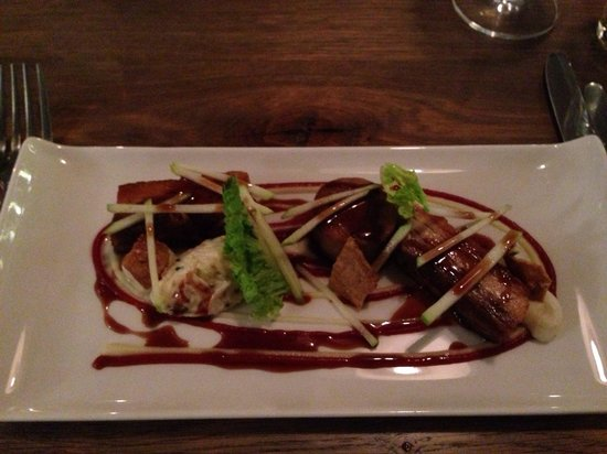 The Coach House By Michael Caines: Pork belly.