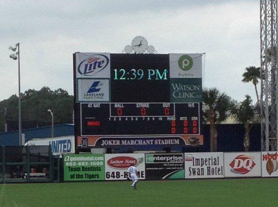 Joker Marchant Stadium: Scoreboard