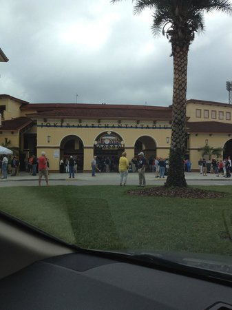 Joker Marchant Stadium: A portion of the Stadium fromm the car