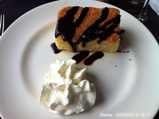 Restaurante Hotel Valle de Pineta: Pastel de naranja.