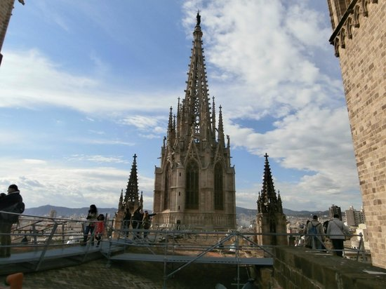 Barcelona Cathedral : rooftops