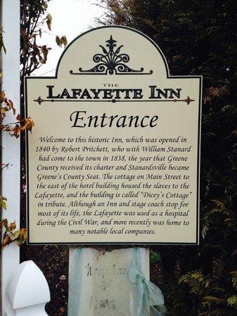 Lafayette Inn & Restaurant : Lafayette Inn