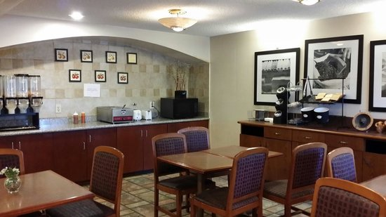 """A Victory Inn & Suites Phoenix North: This was the breakfast """"buffete""""  cereal, eggs, and toast.. oh let's not forget the Kool aid...."""