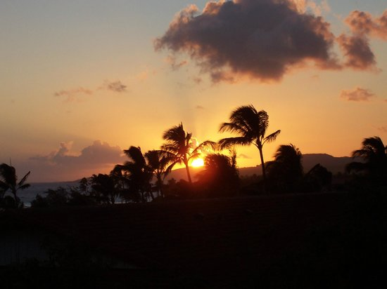 Poipu Plantation Resort: Beautiful sunsets from the lanai