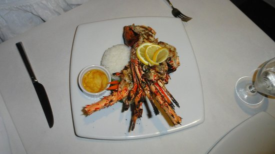 Christina's: Rock lobster in butter and garlic