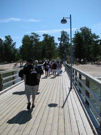 Bridge to Pihlajasaari Recreational Park