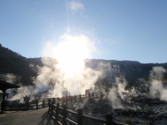 Unzen Jigoku (Unzen Hell): 硫黄のにおいと噴気がすごい