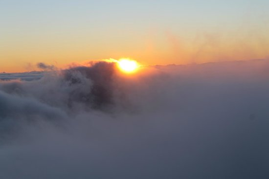 Mountain Riders: View of the morning sunrise