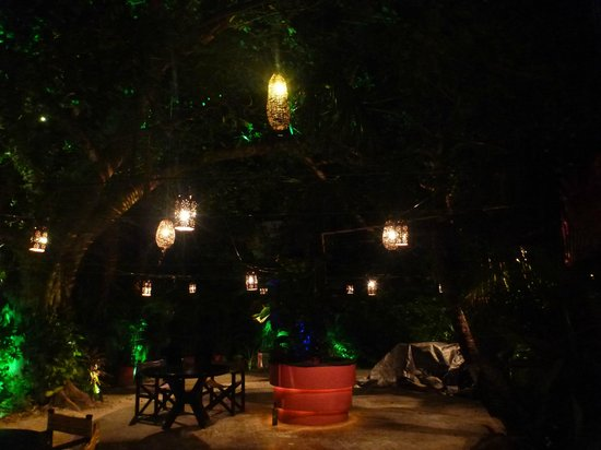 Kondesa Restaurante: Beautiful garden setting