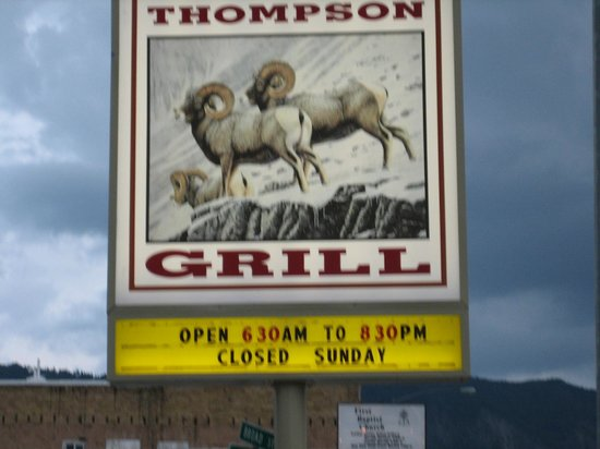 Thompson Grill : Stop at the sign of the Big Horn Sheep
