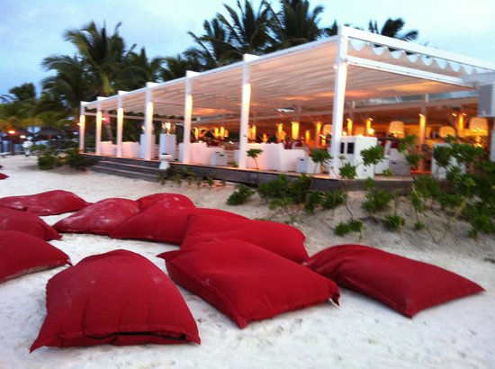 LUX* Belle Mare: Bean bags on the beach
