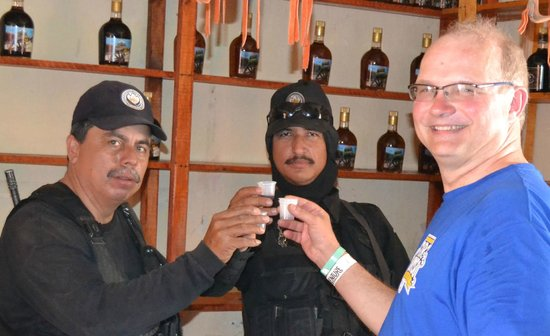 Veraneando Adventure Zipline Tour and River Ride Tour: Tequila samples at end of Zip lining