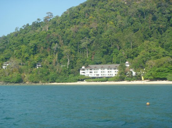 The Andaman, A Luxury Collection Resort: View from catamaran