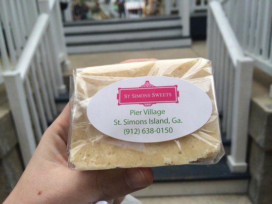 St Simons Sweets: Salted caramel bar