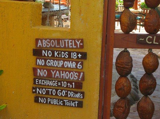 Villa La Bella : No Yahoos!