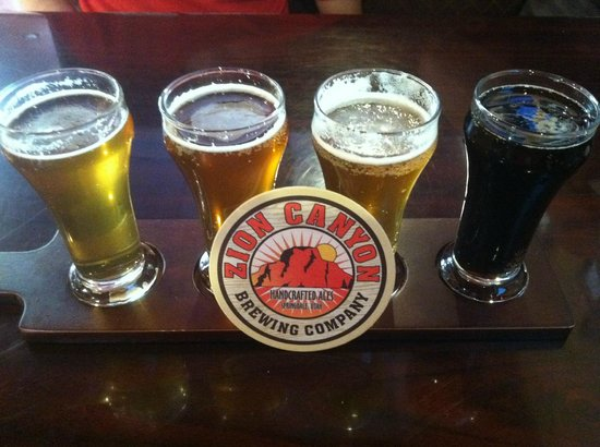 Zion Canyon Brew Pub : Great Flight!