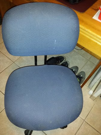 Delta Town & Country Inn: Dirty desk chair
