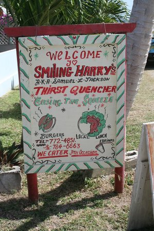 Smiling Harry's: Harry's beach fron sign
