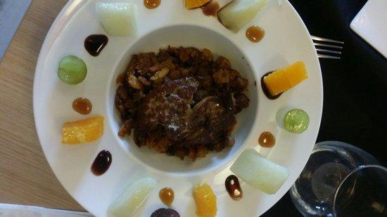 Restaurante La Marmita: Migas con foie y frutas