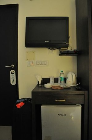 Gautam Residency: TV and fridge