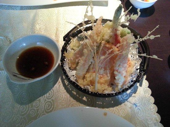 Restaurante Tatami: pincho de verduras y langostino