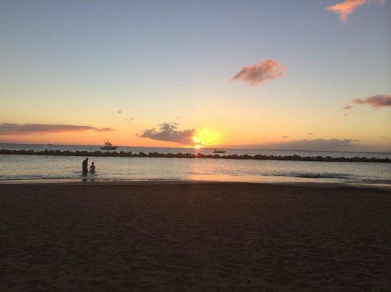 Four Seasons Resort Nevis, West Indies: Pinney's Beach at Sunset
