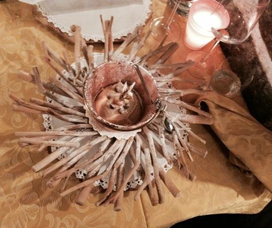 Osteria Alla Corte dei Toldi : dessert scultura