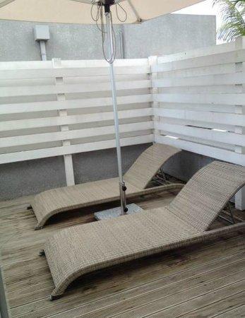 Mon Choisy Beach Resort : rooftop patio