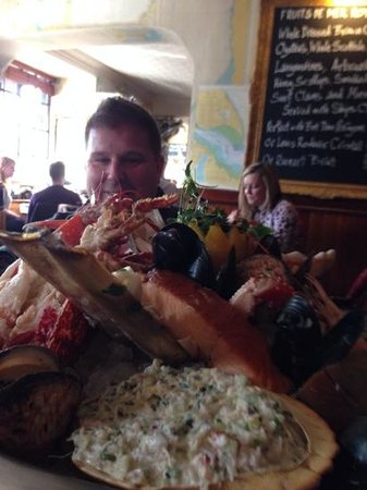 The Ship on the Shore: Dean, clearly looking forward to dive in to seafood heaven!