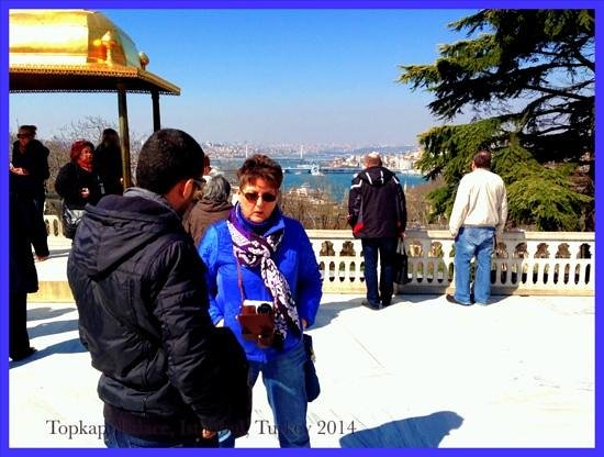 Daily Istanbul Tours: Talking over history with our guide Ali.