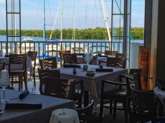 Bayfront Bistro: View from our table.  (Actual view was even much better!)