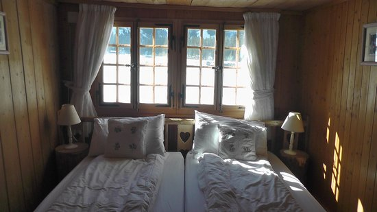 The Hayloft: Our charming and romantic bedroom.