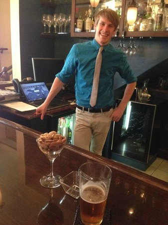Hotel 1110: Lance Staub, the assistant manager, at the lobby bar at happy hour.