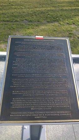 Tomb of the Unknown Soldier (Grob Nieznanego Zolnierza): Табличка на польском языке